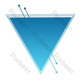 синий треугольник узор свободный вырез Графические элементы шаблон PSD