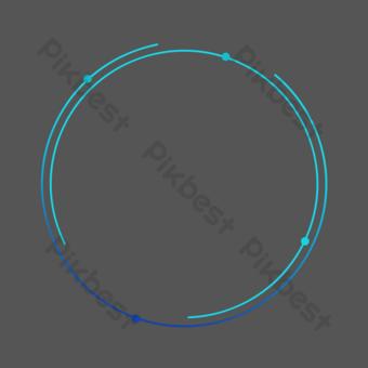 邊框紋理藍色科技風格邊框 元素 模板 PSD
