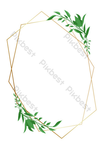 邊框紋理植物線條邊框 元素 模板 PSD