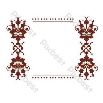 邊框紋理復古圖案古典裝飾 元素 模板 PSD