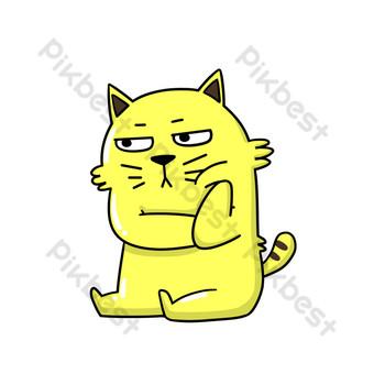 無聊的貓 元素 模板 PSD
