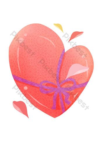 arco amor corazón rojo ilustración Elementos graficos Modelo PSD