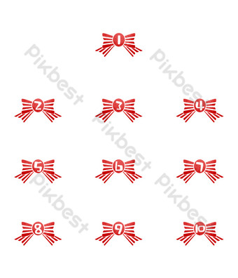 Bow symbol public account separator PNG Images Template PSD