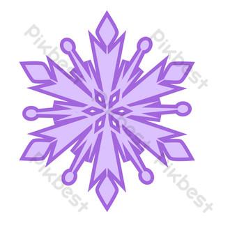 patrón de elemento de copo de nieve de seis pétalos púrpura brillante Elementos graficos Modelo AI