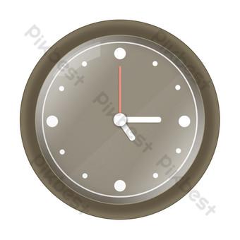 ساعة حائط المنزل البني مجانا صور PNG قالب PSD