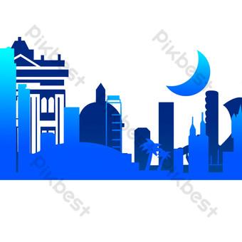 صورة ظلية تشييد المباني صور PNG قالب PSD