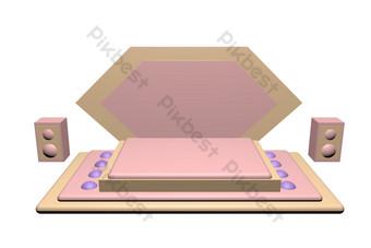 c4d舞台展示架 元素 模板 C4D