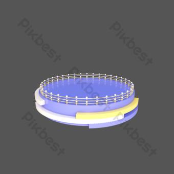 c4d立體電子商務紫色3d舞台海報裝飾舞台 元素 模板 PSD
