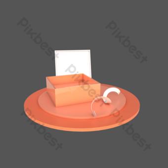 c4d立體舞台禮品盒裝飾場景 元素 模板 PSD