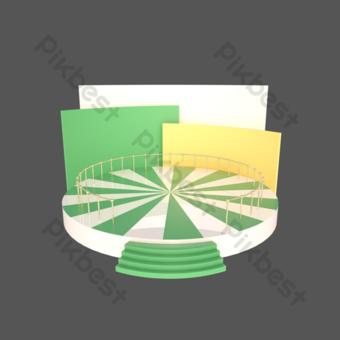 c4d三維電子商務展台海報裝飾舞台 元素 模板 PSD
