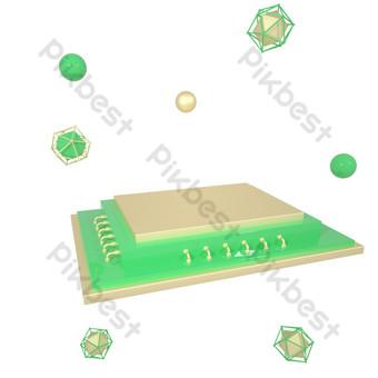 c4d三維電子商務場景搭建舞台三維免費繪圖 元素 模板 C4D