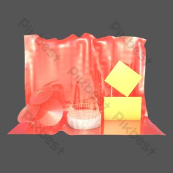 c4d三維事件推廣舞台幕布場景 元素 模板 PSD