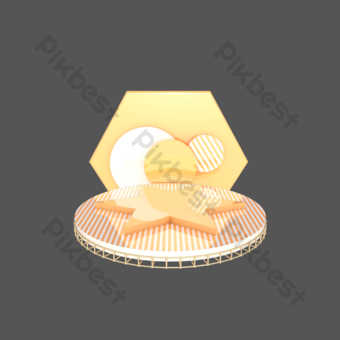 c4d三維幾何舞台海報電子商務裝飾 元素 模板 PSD