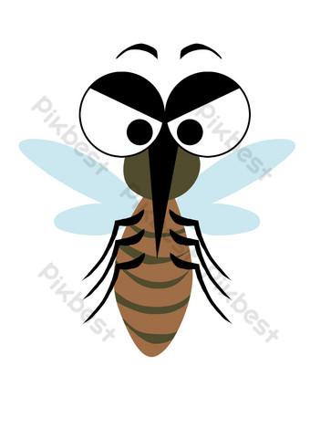 卡通擬人化蚊子 元素 模板 PSD
