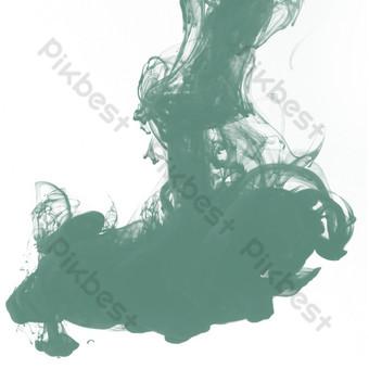 卡通深綠色墨水無菸按鈕 元素 模板 PSD