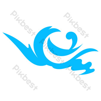 Cartoon flat water spray decoration PNG Images Template AI