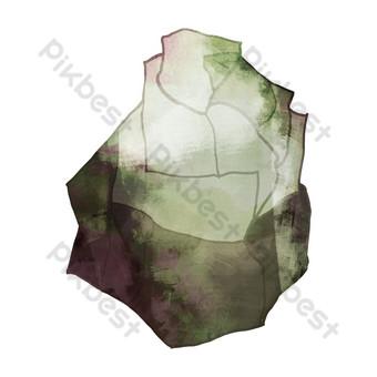 كرتون رمادي لطيف الحجر صور PNG قالب PSD