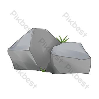 رسم كاريكتوري، حجر رمادي، تصوير صور PNG قالب PSD