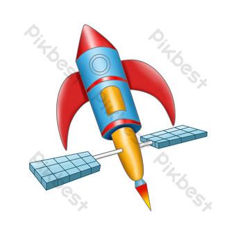 ilustración de dibujos animados de nave espacial Elementos graficos Modelo PSD