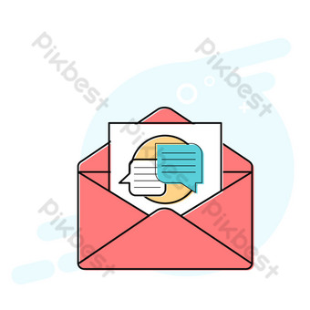 mensaje de correo de dibujos animados icono de estilo meb Elementos graficos Modelo AI