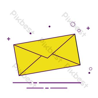 correo de dibujos animados enviando icono de estilo meb Elementos graficos Modelo AI