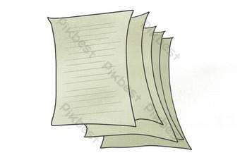 مذكرة ورقة الكرتون صور PNG قالب PSD