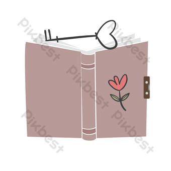卡通散文書插圖 元素 模板 PSD