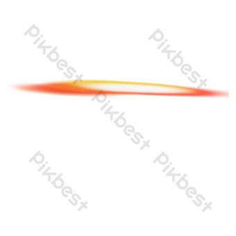 líneas decorativas degradado amarillo rojo de dibujos animados Elementos graficos Modelo PSD