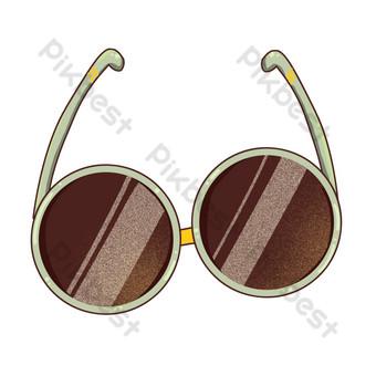 ilustración de gafas redondas de dibujos animados Elementos graficos Modelo PSD
