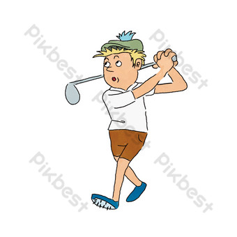 Cartoon serving boy vector PNG Images Template EPS