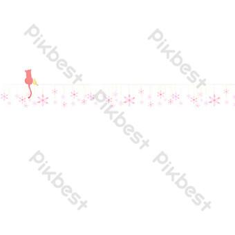ilustración de línea divisoria de copo de nieve de dibujos animados Elementos graficos Modelo PSD