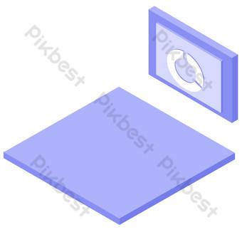 卡通舞台展示免費按鈕 元素 模板 PSD