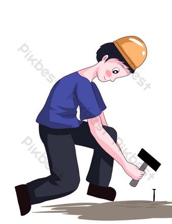 Kỷ niệm ngày lao động hạnh phúc Công cụ đồ họa Bản mẫu PSD