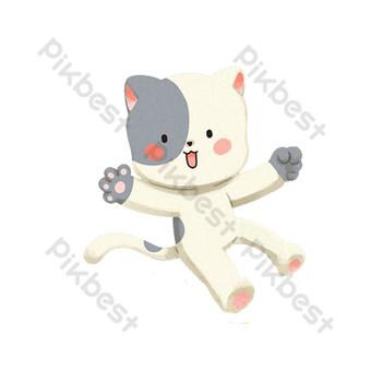 boneka kucing hari anak-anak Elemen Grafis Templat PSD