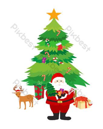 عيد الميلاد الخيال موضوع الكرتون التوضيح رائعة صور PNG قالب PSD