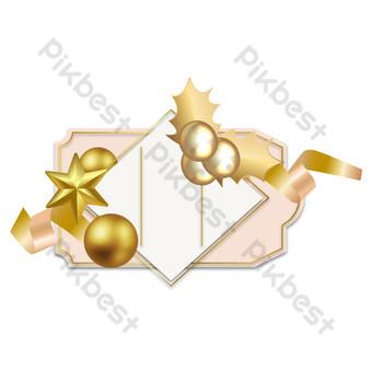 زخرفة عيد الميلاد بطاقات المعايدة عطلة صور PNG قالب AI