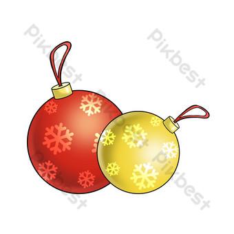 ilustración de bola de nieve de adorno de navidad Elementos graficos Modelo PSD