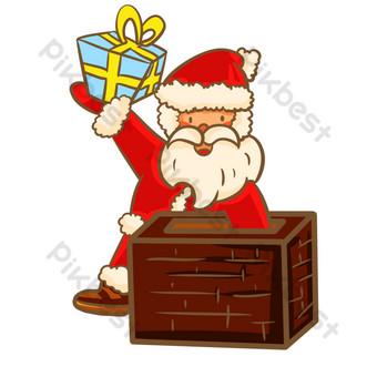 navidad santa chimenea Elementos graficos Modelo PSD