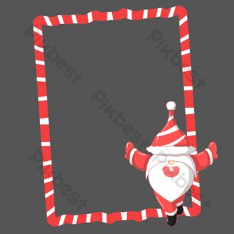 frontera de navidad santa claus Elementos graficos Modelo PSD