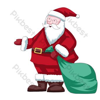 navidad santa claus dia de navidad regalos de carnaval navideño Elementos graficos Modelo PSD