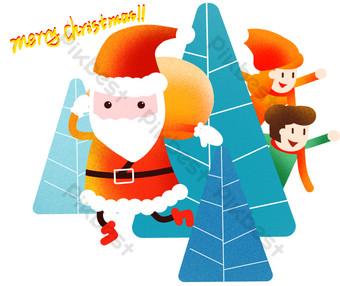 navidad santa claus ilustración Elementos graficos Modelo PSD