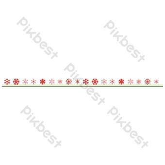 línea divisoria de copo de nieve de navidad Elementos graficos Modelo AI