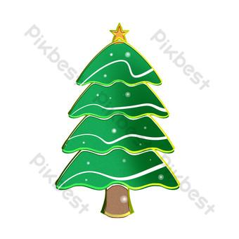 árbol de navidad estilo de decoración simple Elementos graficos Modelo PSD