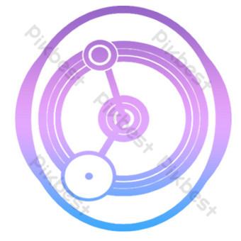 Illustration de la technologie bleue circulaire gratuite Éléments graphiques Modèle PSD