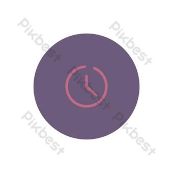 reloj simple icono de interfaz de usuario Elementos graficos Modelo AI