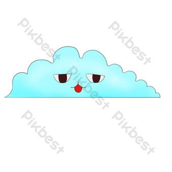 雲裝飾模式無聊雲 元素 模板 PSD
