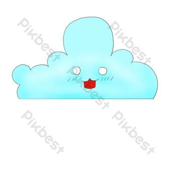 雲裝飾模式奇蹟雲 元素 模板 PSD