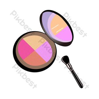 decoración de sombra de ojos de color Elementos graficos Modelo PSD