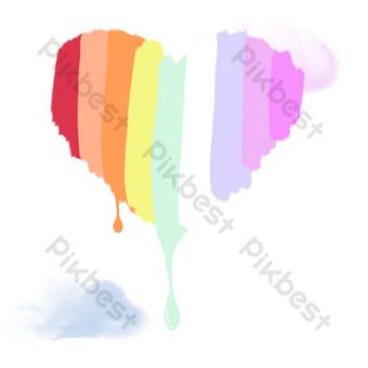 color cielo arcoiris Elementos graficos Modelo PSD