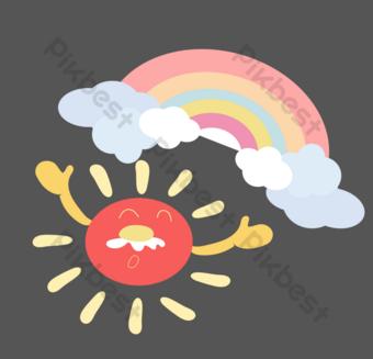 arcoiris cielo colorido Elementos graficos Modelo AI